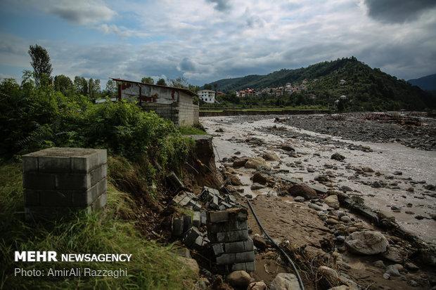 حجم خرابی ها در رودخانه های مازندران بالا است