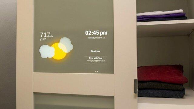 تبدیل کمد لباس به کمد هوشمند با پروژکتور بوش!