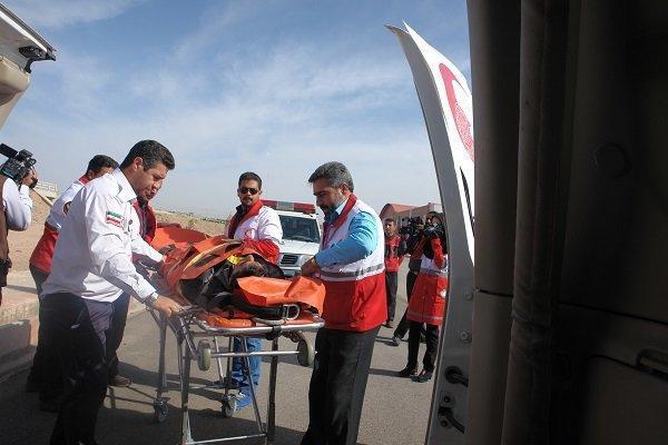 مانور منطقه ای جمعیت هلال احمر شمال کشور در گلستان برگزار گردید