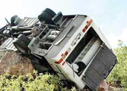 واژگونی مرگبار اتوبوس در لرستان