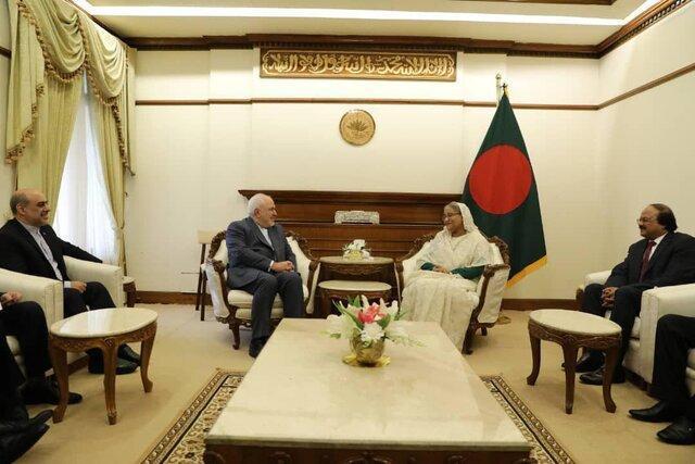 ظریف با نخست وزیر بنگلادش دیدار کرد