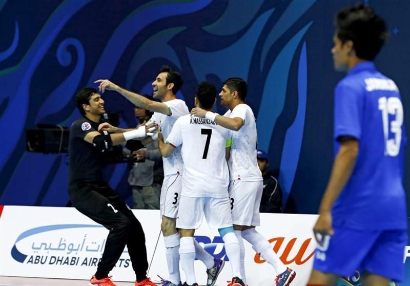 کاسپین کاپ، پیروزی ایران مقابل قزاقستان در دیدار نخست