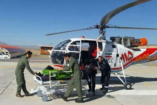 بالگرد اورژانس زاهدان برای نجات جان دو مادر باردار به پرواز در آمد