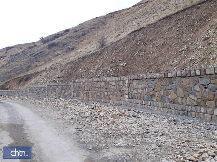 دیوار حائل منطقه نمونه گردشگری کلور در خلخال به بهره برداری می رسد