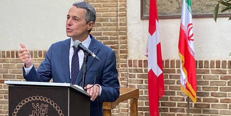 توئیت وزیر خارجه سوئیس درباره 100 سال روابط دیپلماتیک با ایران، عکس