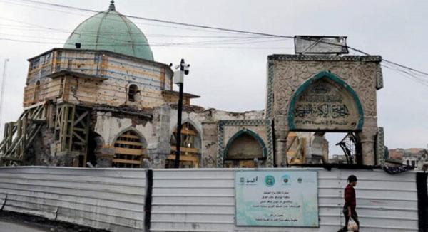 مسجد تاریخی النوری موصل به شکل معماری شارجه امارات بازسازی شد