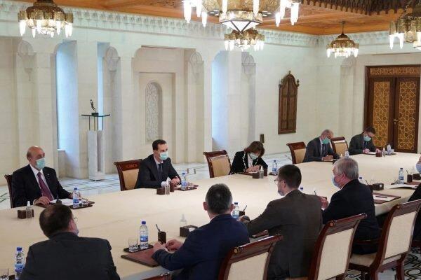 دیدار و گفتگوی بشار اسد با فرستاده ویژه دولت روسیه