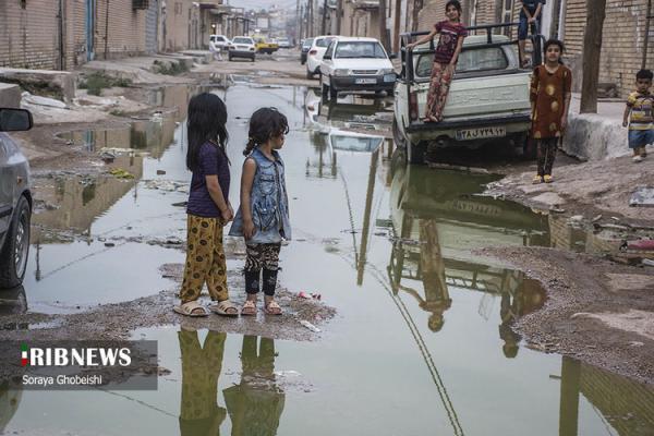 (تصاویر) شرایط اسفناک بهداشت بچه ها در کوت عبدالله